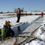 channel for diving ice