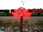 warning of water tank demolition