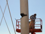 cutting water tower legs to control direction of collapse