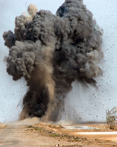 controlled detonation of UXO