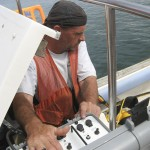 monitoring the dive boat communications