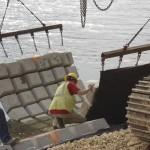 positioning concrete revetment mats