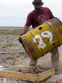 sampling contents of drum containing hazardous waste