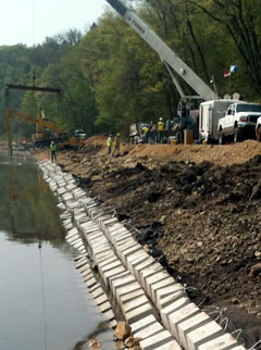 shoreline stabilization at Rock River
